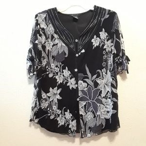 Pretty blouse by Appointments size 3X